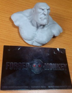 Brute bust. Forged Monkey